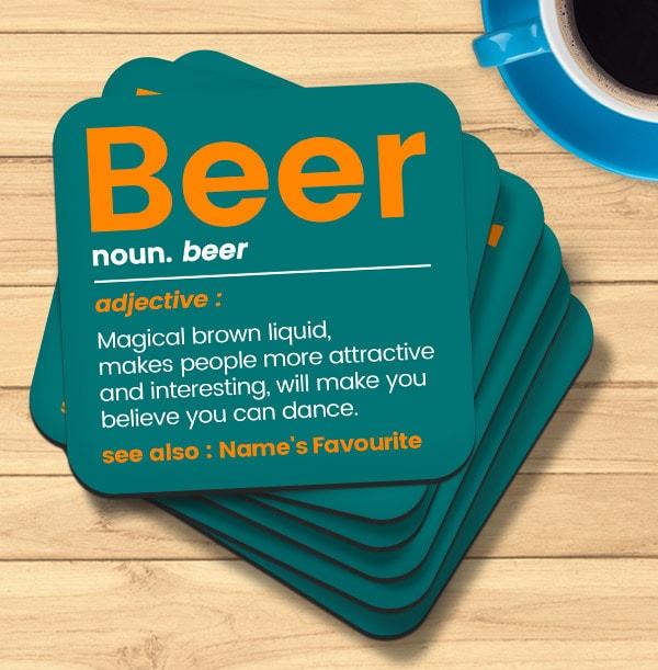 Beer Personalised Coaster