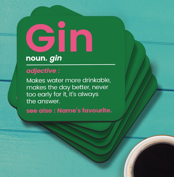 Gin Personalised Coaster