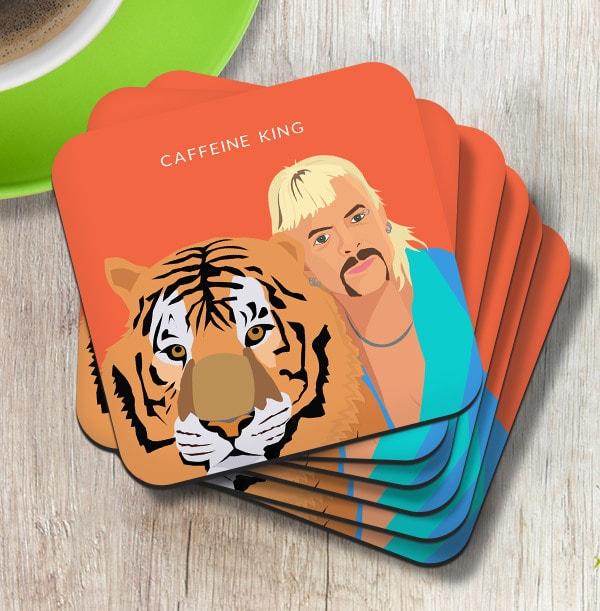 Caffeine King Personalised Coaster