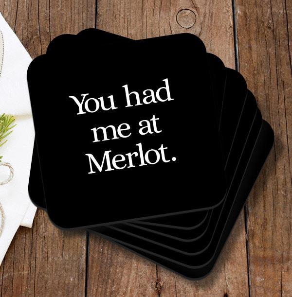 Merlot Personalised Coaster