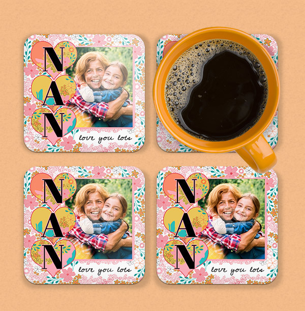 Nan - Love You Lots Photo Coaster