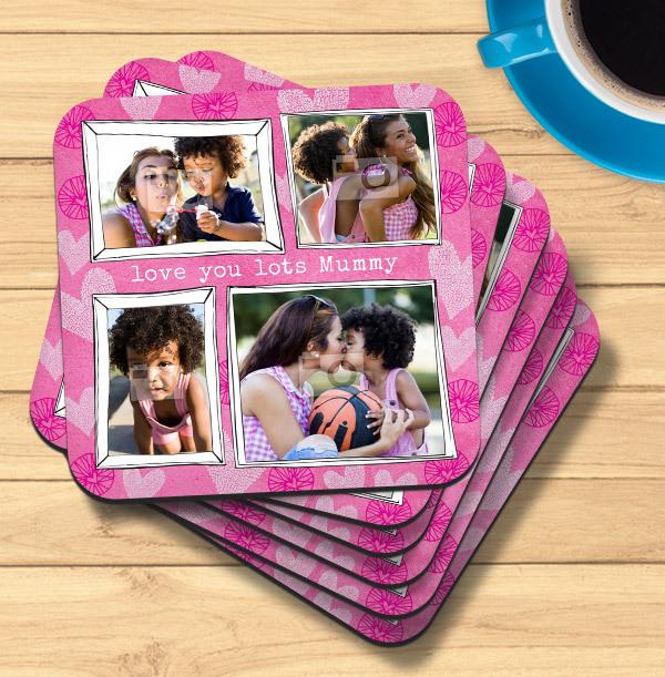 Love You Lots Mummy Photo Coaster