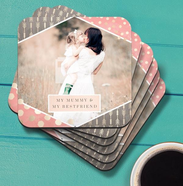 Mummy & Best Friend Photo Coaster