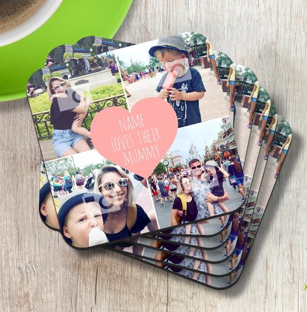 Love Their Mummy Multi Photo Coaster