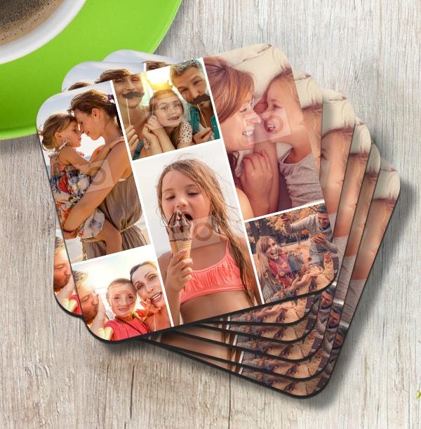 7 Photo Collage Coaster