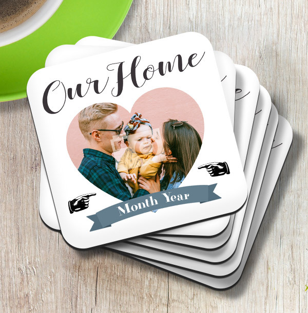 Our Home Photo Coaster