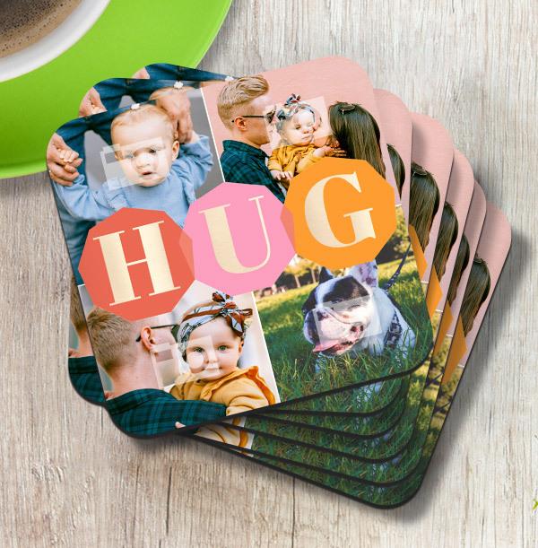 Hug Photo Coaster