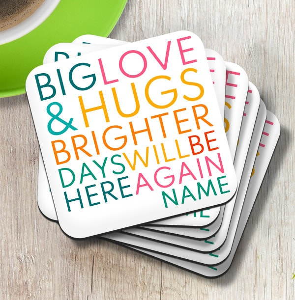 Brighter Days Personalised Coaster