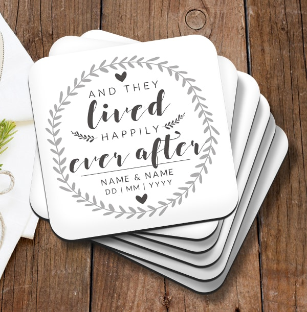Happily Ever After Personalised Coaster