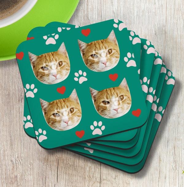 Cat Multi Photo Coaster