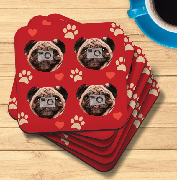 Dog Multi Photo Coaster