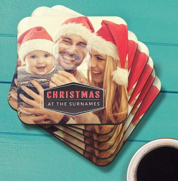Christmas Family Photo Coaster