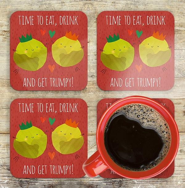 Get Trumpy Personalised Coaster