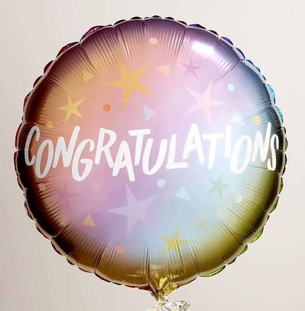 Congratulations Ombre Balloon