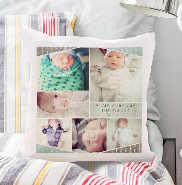 Baby Boy Multi Photo Cushion