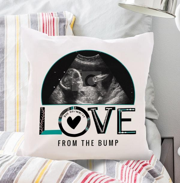 Love From Bump Photo Cushion