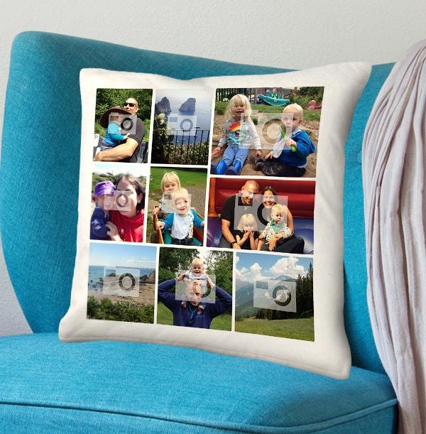 Dad Photo Collage Cushion