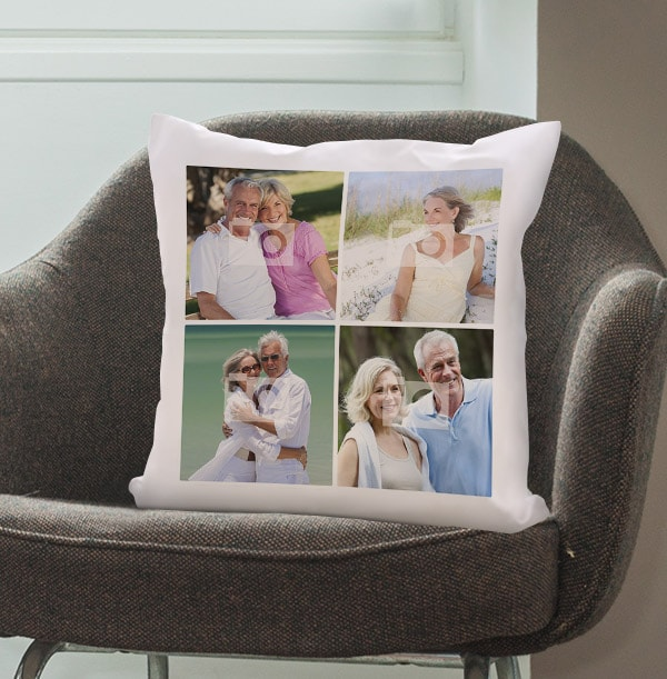 Couple's Four Photo Cushion