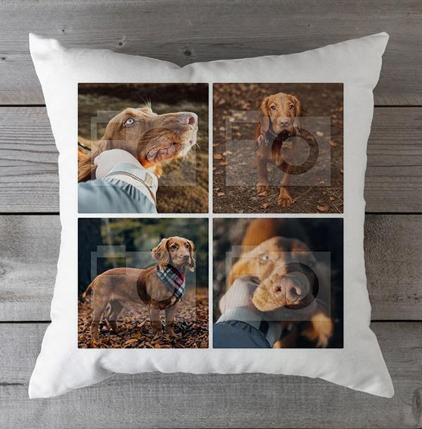 Dog Four Photo Upload Cushion