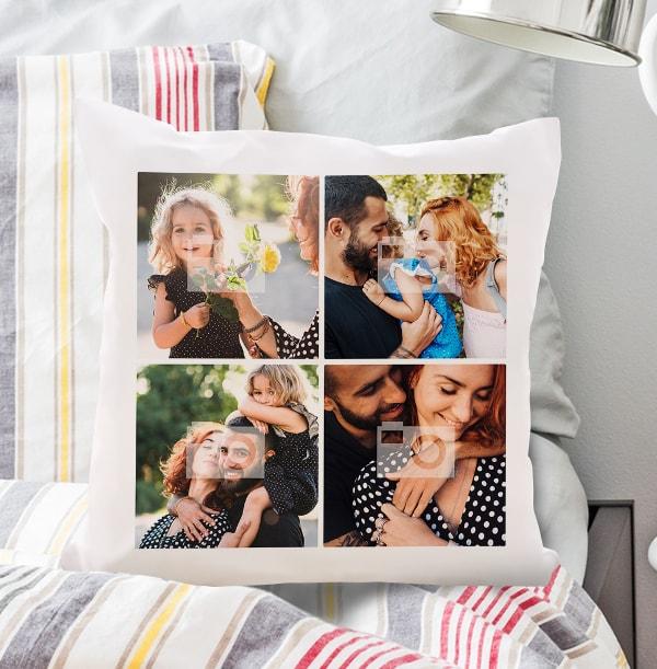Mum Four Photo Cushions