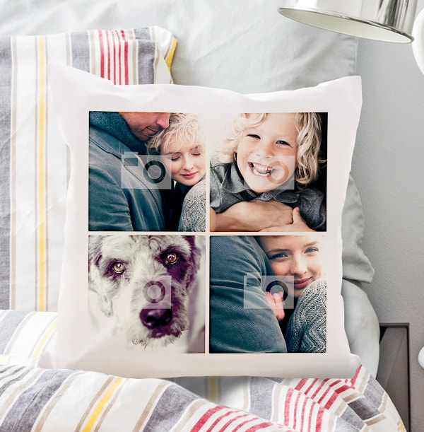 Four Photo Upload Cushion