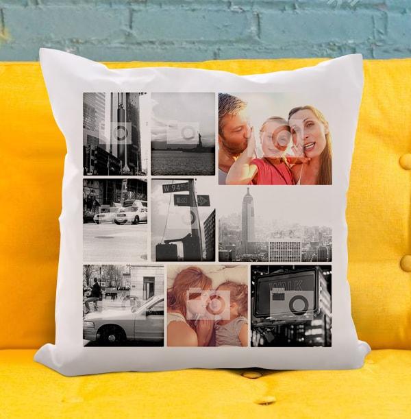 Nine Photo Collage Cushion