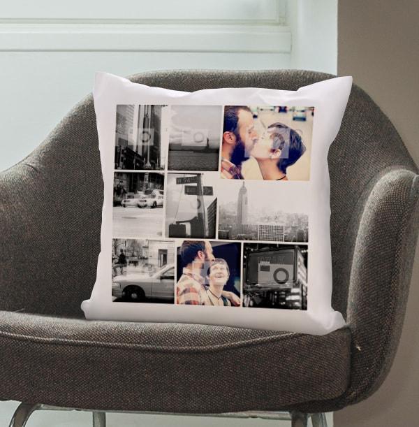 Multi Photo Collage Personalised Cushion