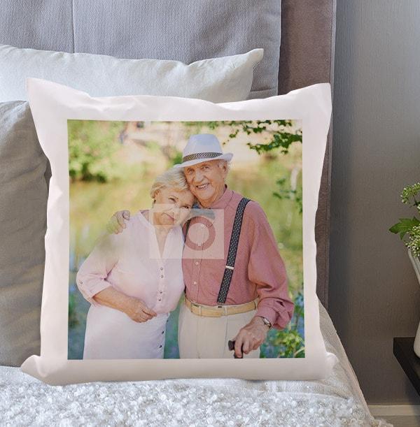 Full Photo Valentines Cushion