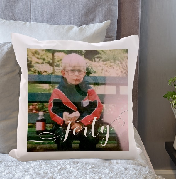 40th Birthday Photo Upload Cushion