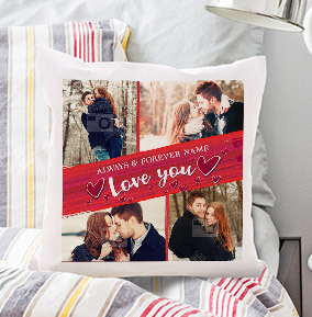 Always and Forever Multi Photo Cushion