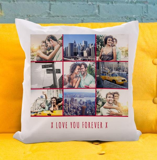 Love You Forever Multi Photo Cushion