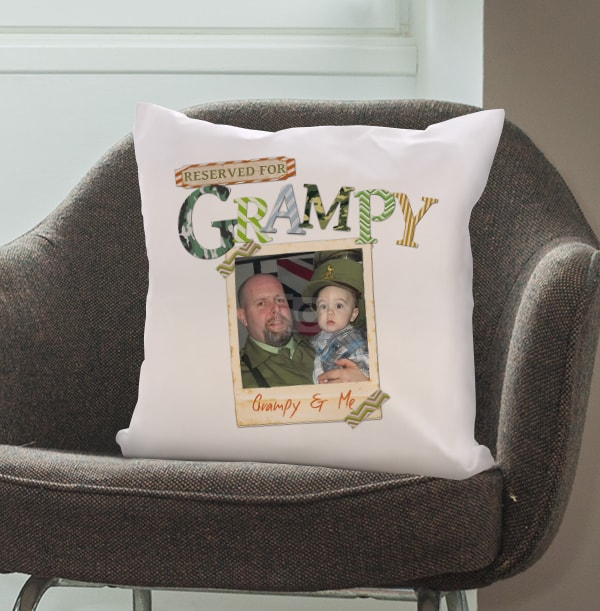 Reserved for Grampy Personalised Cushion