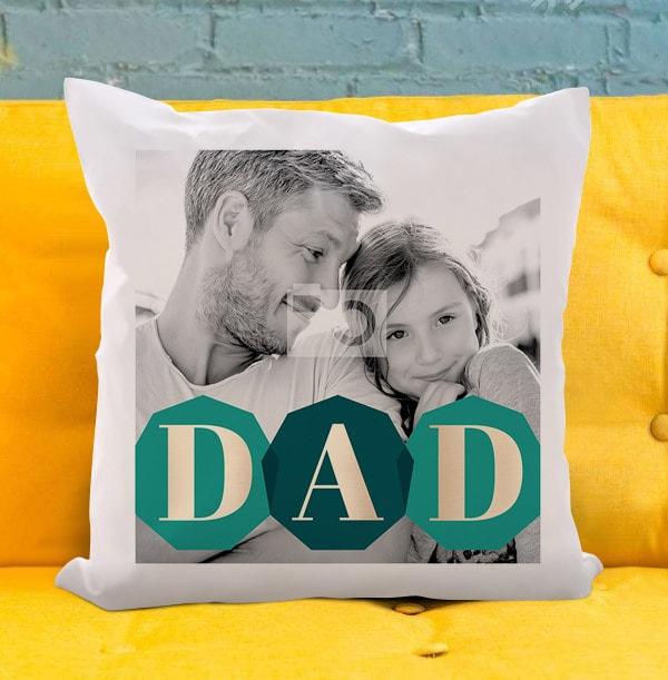 DAD Photo Upload Cushion