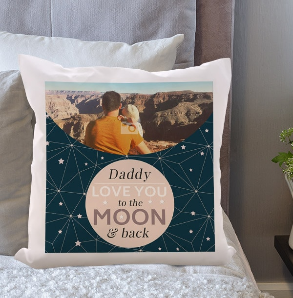 Daddy To The Moon Photo Cushion