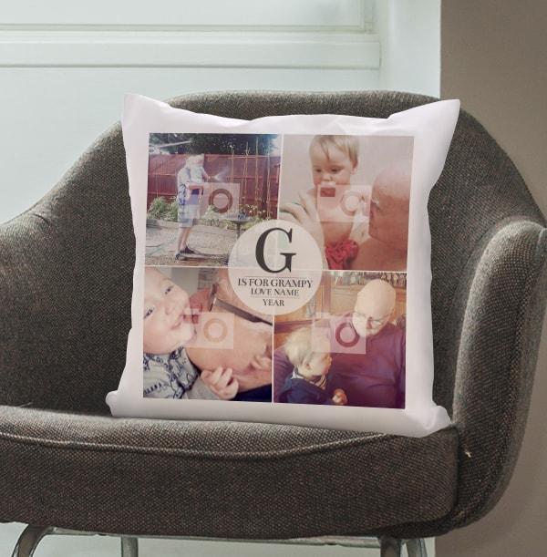 G Is For Grandad Photo Cushion