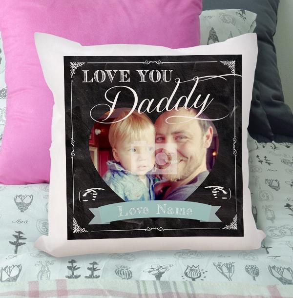 Love You Daddy Photo Cushion
