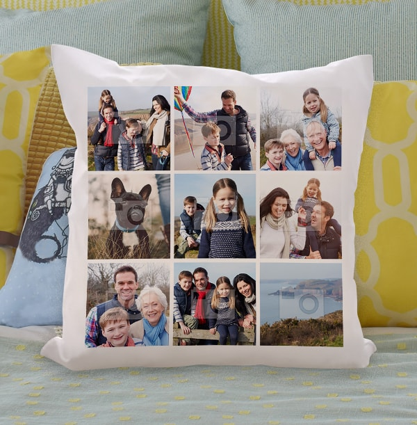 Multi Photo Squares Cushion