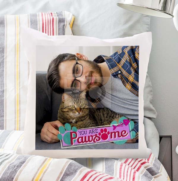 Pawsome Cat Photo Cushion