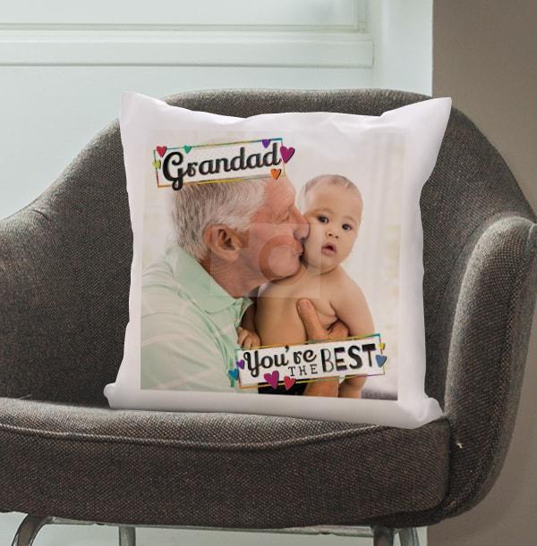 Grandad You're The Best Photo Cushion
