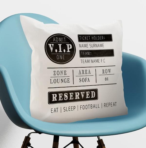Football Ticket Personalised Cushion
