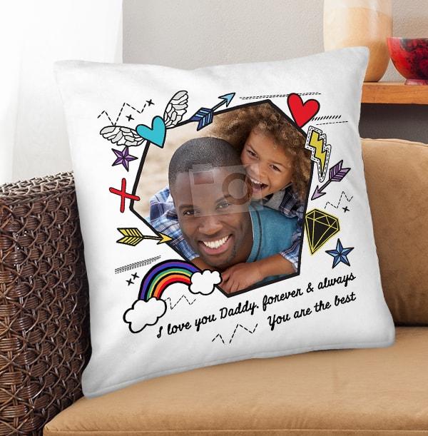 I Love You Daddy Photo Cushion