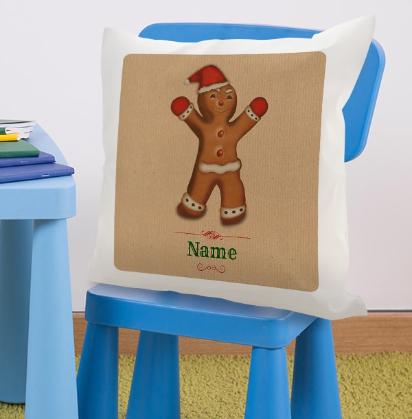 Gingerbread Man Personalised Cushion