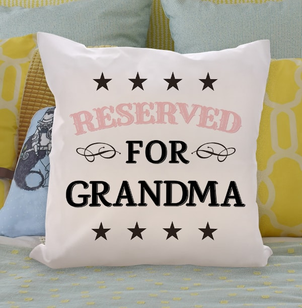 Reserved for Grandma Personalised Cushion