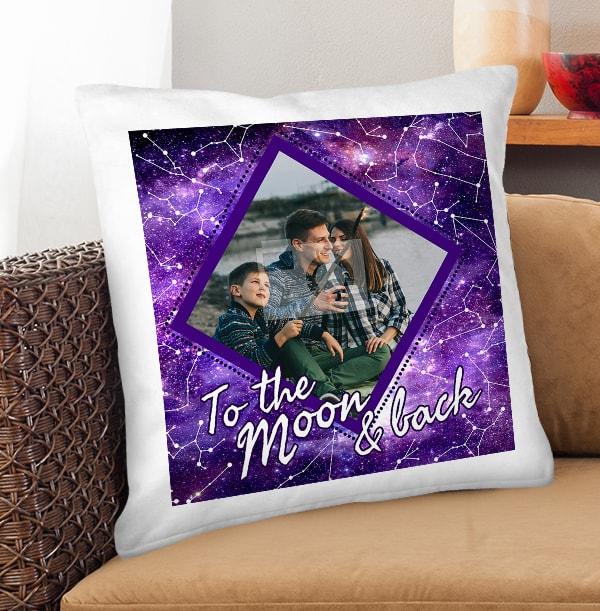 To The Moon Photo Cushion