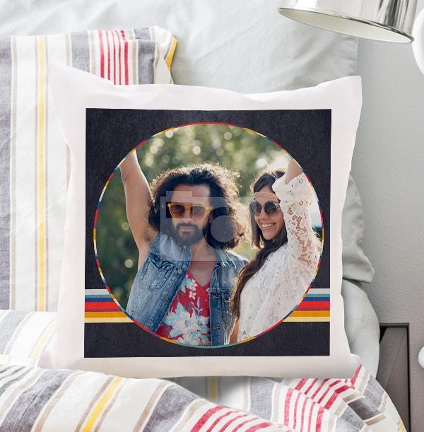 Retro Personalised Photo Cushion