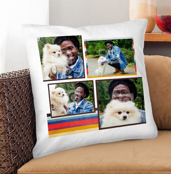 Retro Multi Photo Cushion