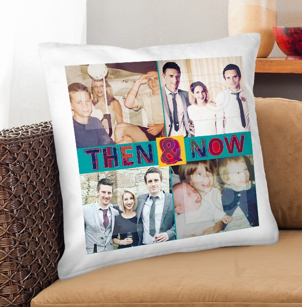 Then & Now Photo Cushion
