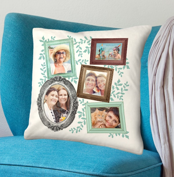 Multi Photo Frames Cushion