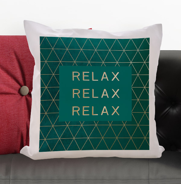 Relax Personalised Cushion