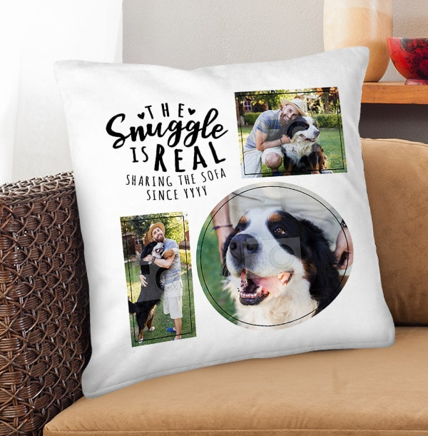 The Snuggle Is Real Photo Cushion